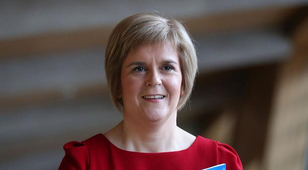 SNP leader Nicola Sturgeon is being sworn in as First Minister