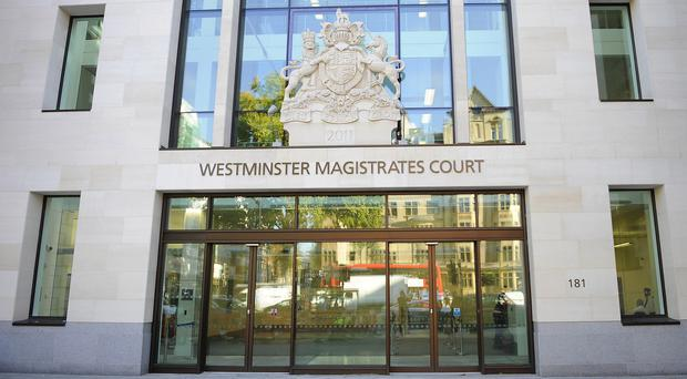The three men appeared at Westminster Magistrates' Court
