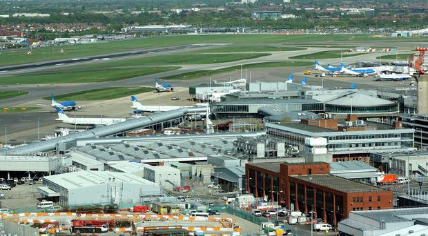 The man was arrested at Heathrow Airport