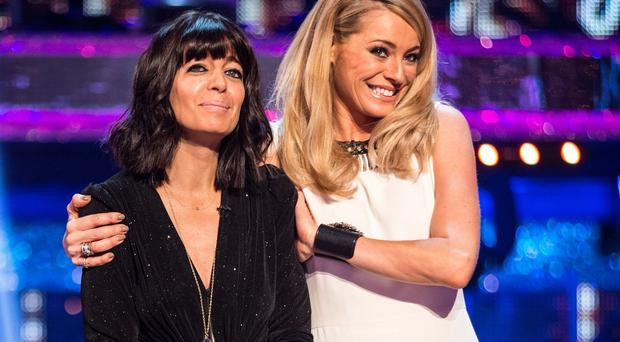 Tess Daly and Claudia Winkleman during the Strictly Come Dancing live show on BBC One (BBC/PA)