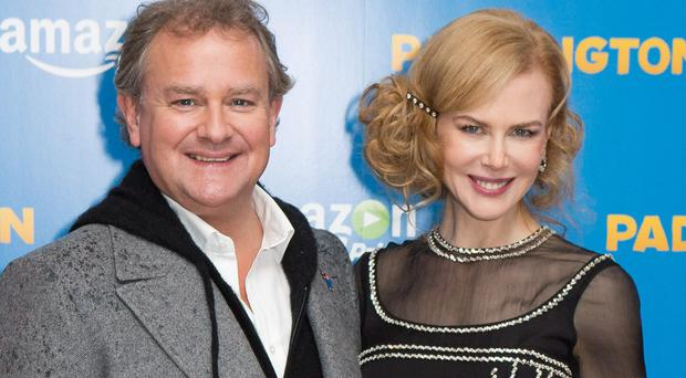 Hugh Bonneville and Nicole Kidman attend the world premiere of Paddington at the Odeon, Leicester Square, central London