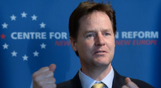 Nick Clegg said he hoped the move would give reassurance to health workers staging their second strike over pay rises