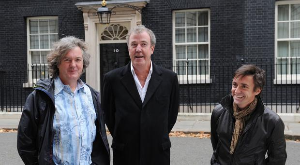 James May, Jeremy Clarkson and Richard Hammond, presenters of Top Gear.