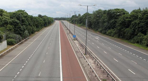 The M1 was closed between junction 21a and 22 near Leicester
