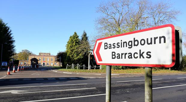 About 300 Libyan recruits were sent home from Bassingbourn Barracks