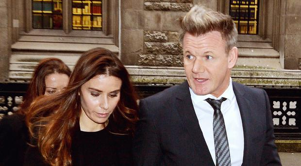 Gordon and Tana Ramsay arrive at the High Court, London