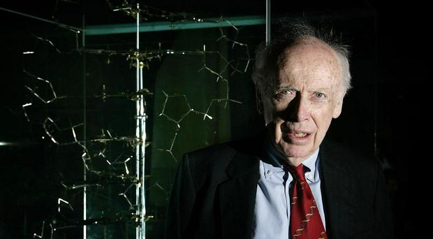 Dr James Watson worked with British scientist Francis at Cambridge University and discovered the double helix structure of DNA