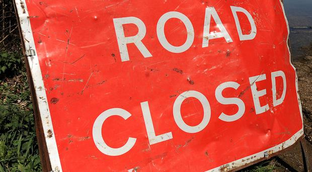 The A1 is closed at Catterick