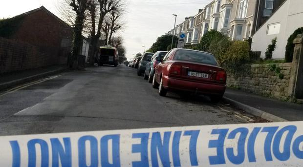 A police cordon at Brynmill Crescent in Swansea yesterday after the tragic accident