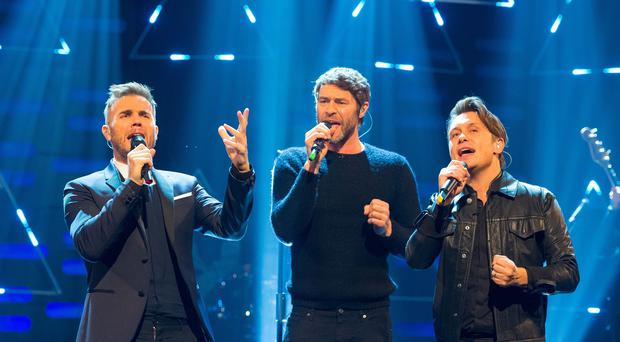 Gary Barlow, Howard Donald and Mark Owen hope to welcome back Robbie Williams and Jason Orange
