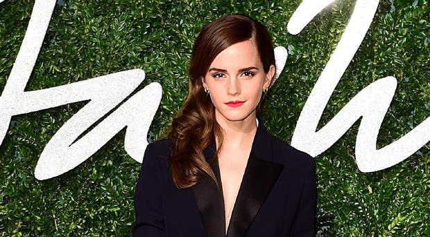 Emma Watson won the British style title at the fashion awards show