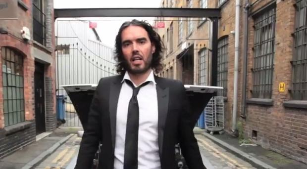 Russell Brand was challenged on the rent he pays