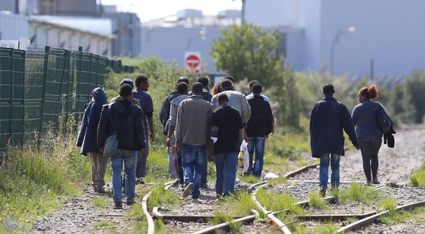 Migrants in Calais hope to find a way into Britain