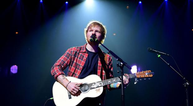 Ed Sheeran's songs have been heard 860 million times on Spotify this year