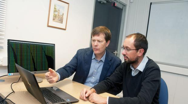 The work of Dr Richard Durbin, left, to interpret whole genome DNA sequence has formed the platform for software which aims to reduce the time to diagnose rare genetic disorders