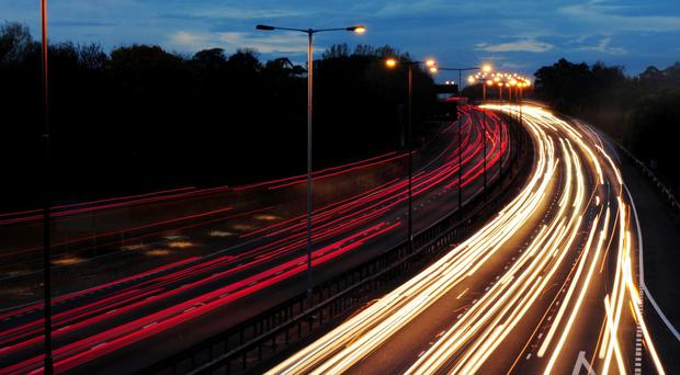 Government figures show night-time accidents on built-up roads where there is street lighting have fallen 18.6%