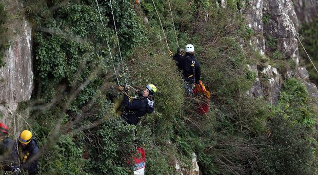 Avon and Somerset Police during the search at Avon Gorge for missing mother Charlotte Bevan and her newborn baby