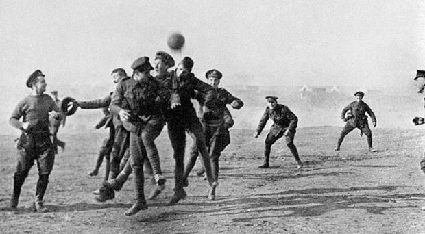 On Christmas Day hostilities often slowed down and this allowed some soldiers to enjoy a game of football