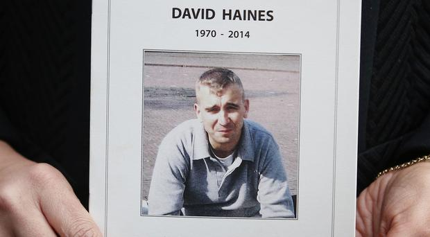 The widow of murdered aid worker David Haines has described his Islamic State killers as cowards and monsters