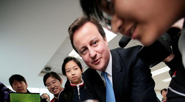 David Cameron has vowed to improve teaching standards in maths and science