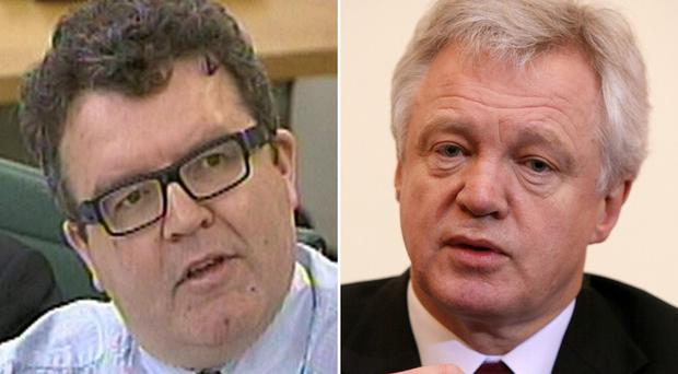 Tom Watson, left, and David Davis, are seeking a declaration from the High Court that Dripa is not compatible with European human rights laws