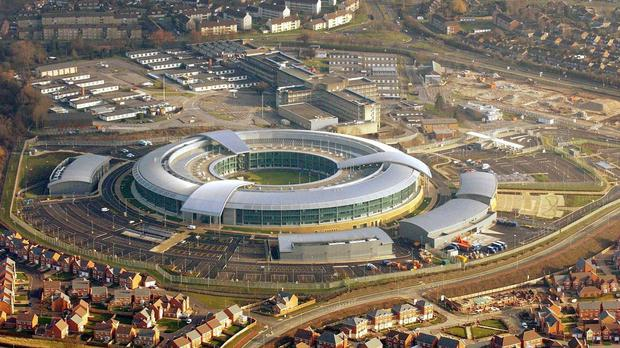 David Cameron has promised to give the intelligence services extra surveillance powers if he wins May's general election. Above: The Government Communication Headquarters (GCHQ) building on the west of Cheltenham