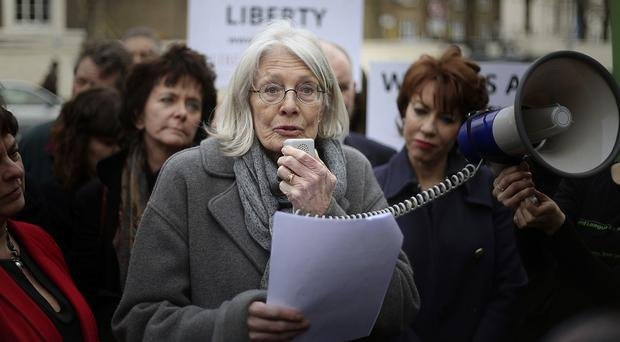 Vanessa Redgrave will be among those protesting outside the Ministry of Justice
