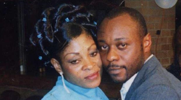 Jimmy Mubenga with his wife, as three G4S guards are cleared of killing the deportee