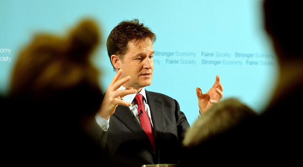 Nick Clegg said opponents of the scheme should eat their hats