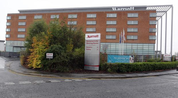 The Marriott Hotel in Enderby, Leicestershire, where the body of Brenda Leyland was discovered