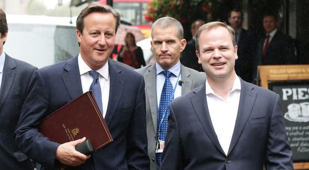 David Cameron with his director of communications Craig Oliver