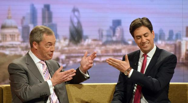 Ukip leader Nigel Farage said he would consider a deal with Labour leader Ed Miliband