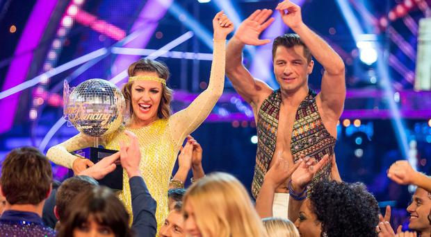 Caroline Flack and Pasha Kovalev have been crowned winners of Strictly Come Dancing