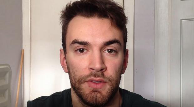 Screen grabbed image taken from a video issued by mental health campaigner Jonny Benjamin, who is being admitted to hospital after having suicidal thoughts