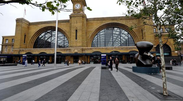 No train services in or out of London Kings Cross because of overrunning engineering works
