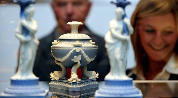 Visitors viewing exhibits at The Wedgwood Museum