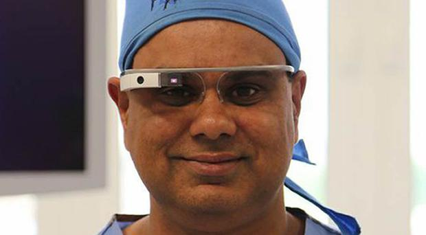 Shafi Ahmed, the first UK surgeon to broadcast online a live surgical procedure using Google Glass eyewear, warned of unprecedented demand on the NHS