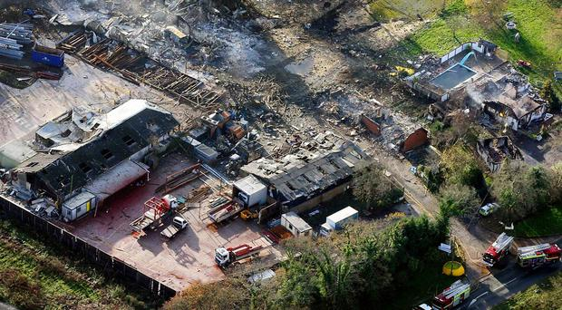 Retained firefighter Geoff Wicker, 49, and support officer Brian Wembridge, 63, died in the blast at Marlie Farm in Shortgate, near Lewes, in December 2006