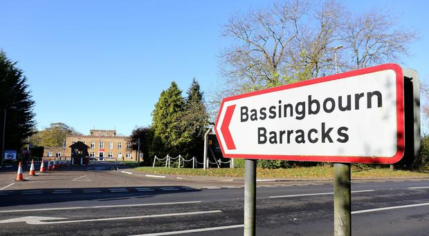 About 300 soldiers arrived in the UK in June to undergo training at Bassingbourn Barracks