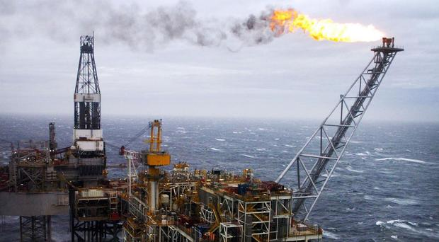 An oil rig in the North Sea, as industry experts warned that falling prices could cost jobs