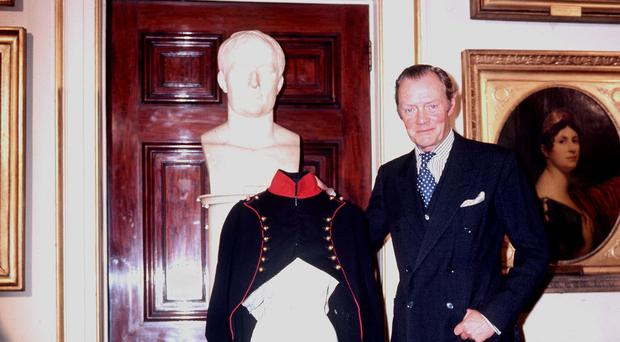 The 8th Duke of Wellington, Arthur Valerian Wellesley, pictured in 1976