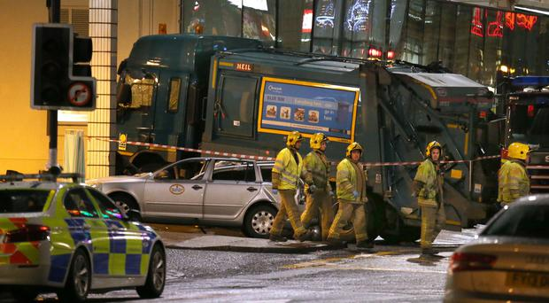 The crash occurred in Glasgow's George Square last week