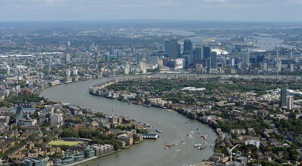 The plane was diverted from London City Airport