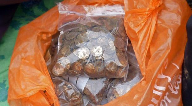 More than 5,000 ancient coins were found in a Buckinghamshire field