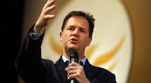 Proud: Nick Clegg