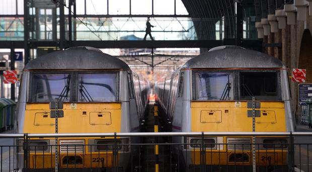 Trains at King's Cross, London, were cancelled because of overrunning Network Rail engineering works last month.