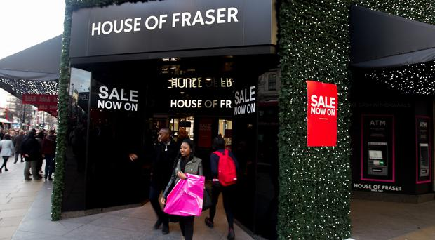 House of Fraser did well out of Black Friday