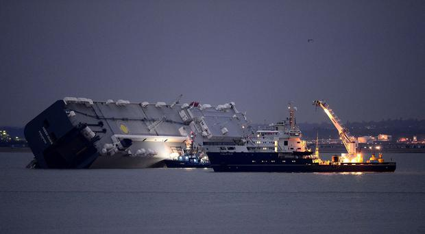 A decision on whether to refloat the vessel is likely to be taken at first light