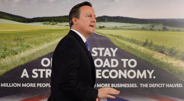 David Cameron warned anything other than a majority Conservative administration after the general election could mean 'chaos'