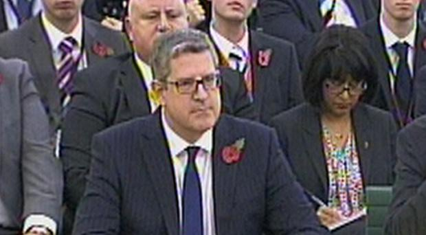 MI5 chief Andrew Parker gives evidence to a parliamentary committee
